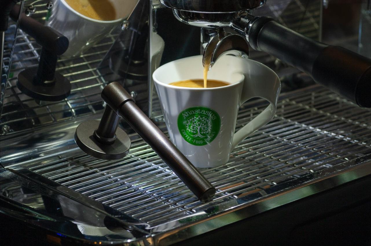koffie dark blend deurklink