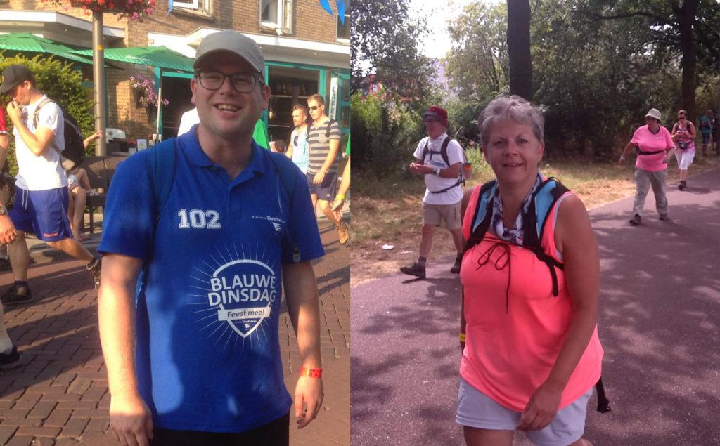 Nijmeegse Vierdaagselopers Mike en Jeanet